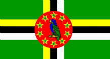 DOMINICA - HAND WAVING FLAG (MEDIUM)